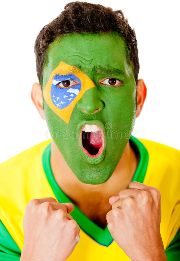 Download Excited Brazilian man stock image. Image of brazil, latin - 24328295