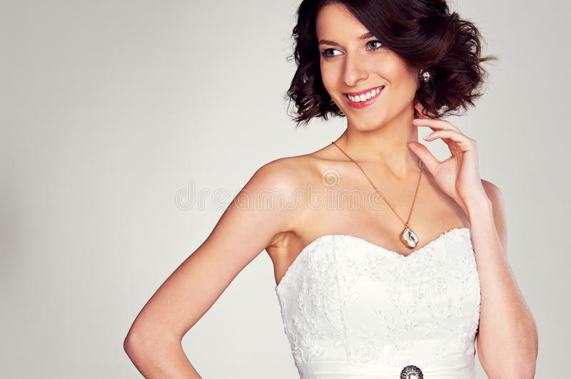 Download Excited Bride In White Dress Stock Image - Image: 30695141