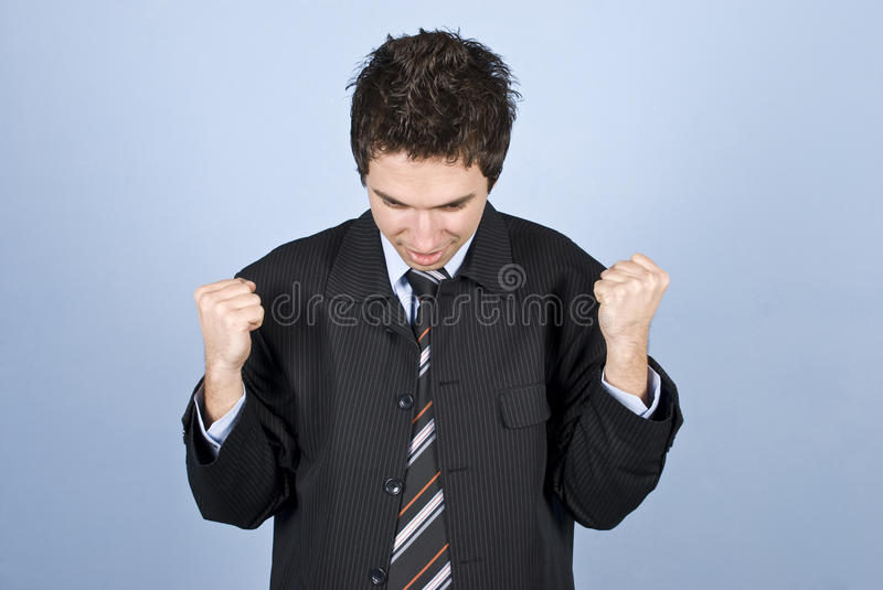 Download Excited Business Man Royalty Free Stock Photos - Image: 12532768
