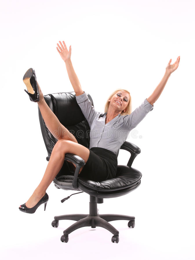 Excited Business Woman Royalty Free Stock Photos