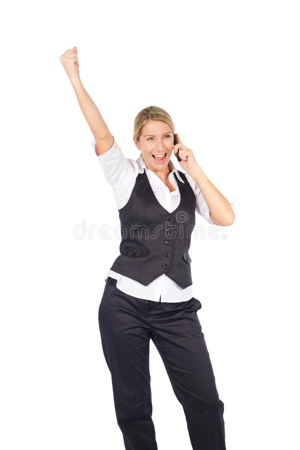 Download Excited businesswoman stock image. Image of cheerful - 15469393