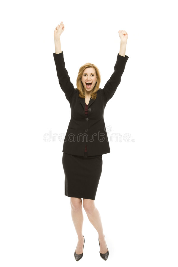 Download Excited Businesswoman stock image. Image of ecstatic, browse - 2386005