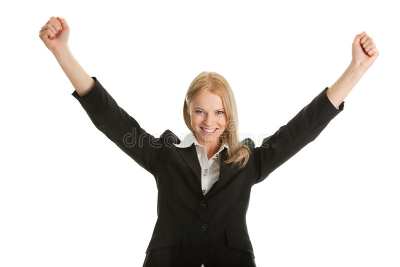 Download Excited Businesswoman Celebrating Success Stock Photo - Image: 18144948