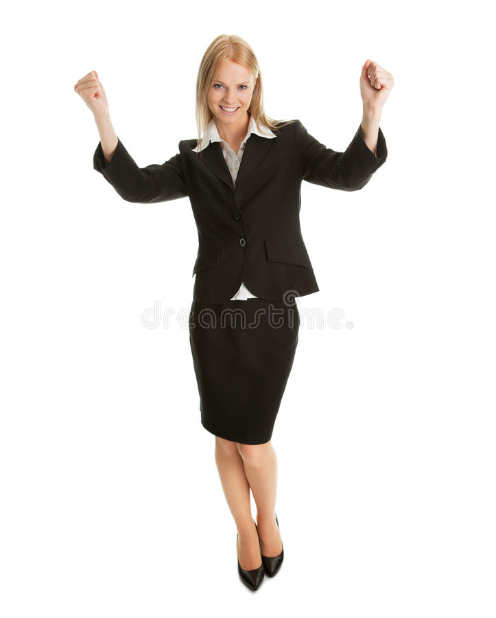 Download Excited Businesswoman Celebrating Success Stock Image - Image: 18203151