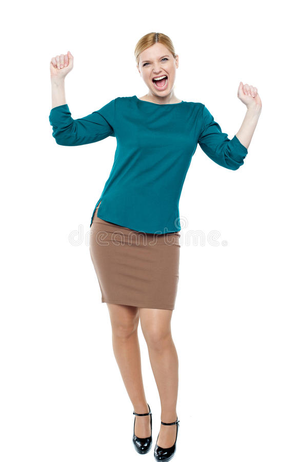Download Excited Businesswoman Celebrating Success Stock Photo - Image of glamorous, boss: 25622258