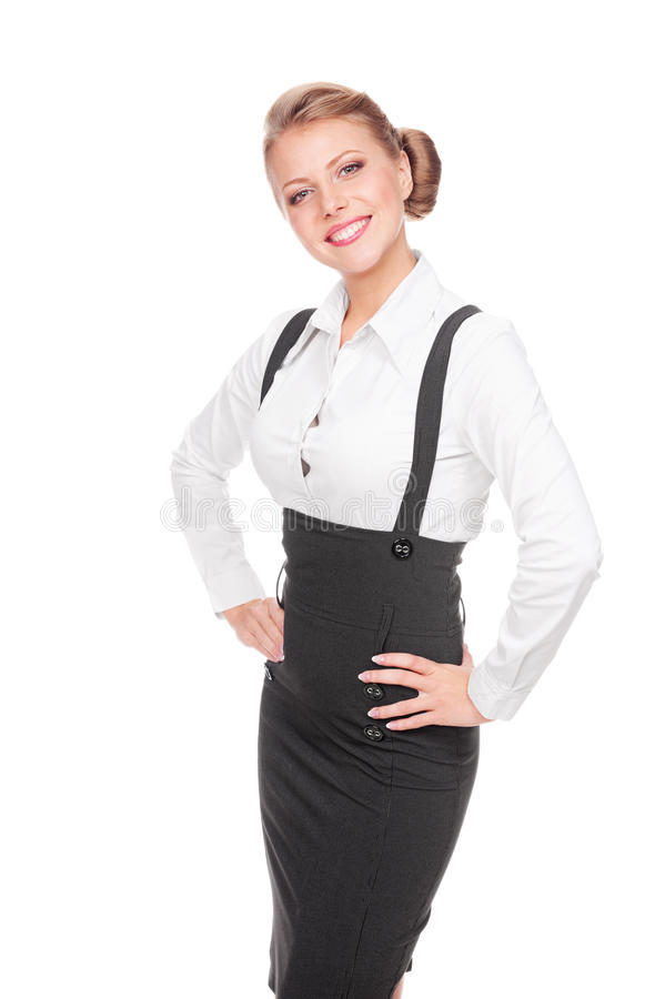 Download Excited Businesswoman Posing Stock Photo - Image: 27172594