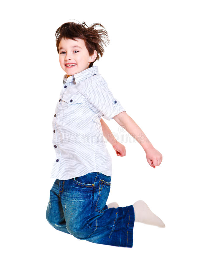 Download Excited child jumping stock photo. Image of caucasian - 19162014