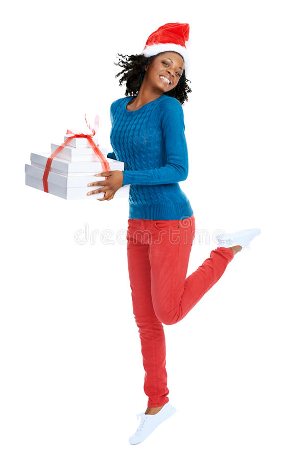 So excited for Christmas! royalty free stock image