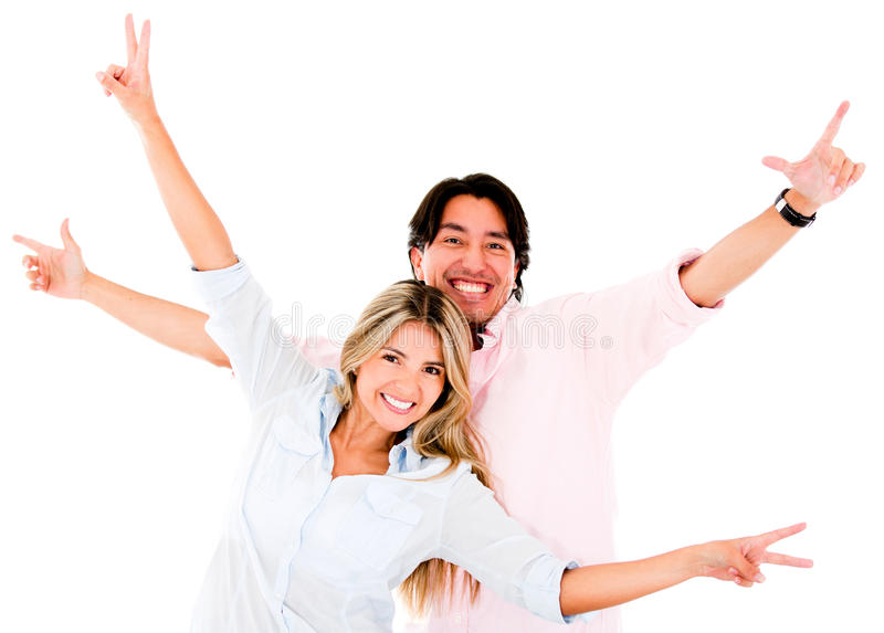 Download Excited couple stock photo. Image of happiness, friends - 25593196