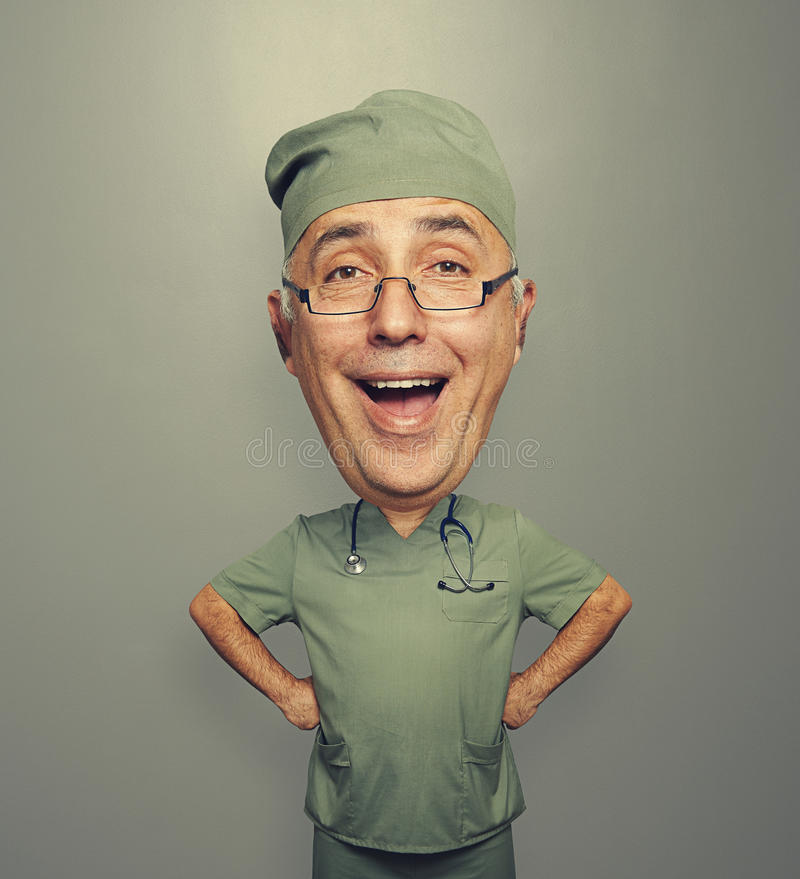 Download Excited doctor in glasses stock image. Image of large - 35124109