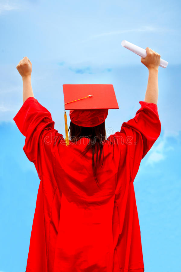 Download Excited female graduate stock photo. Image of special - 10943118