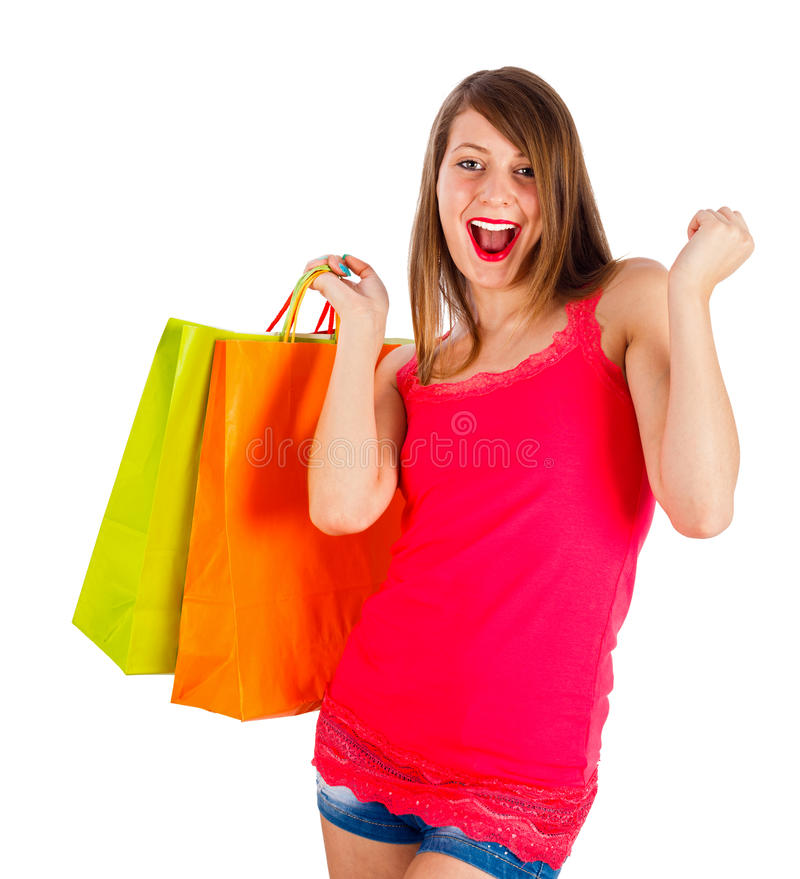 Download Excited for the gifts stock photo. Image of good, enjoyment - 32863226