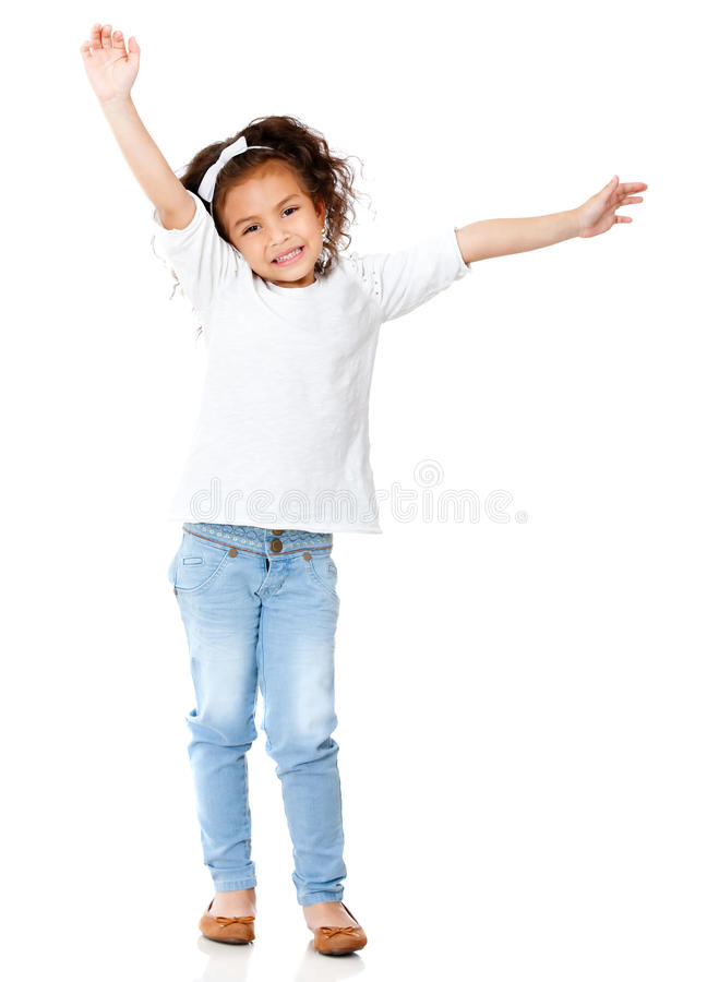 Download Excited girl smiling stock image. Image of adorable, casual - 23965097