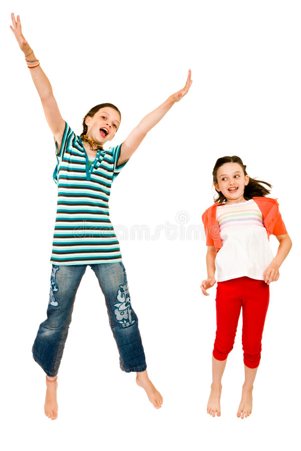 Free Excited Girls Jumping Royalty Free Stock Photography - 10294187