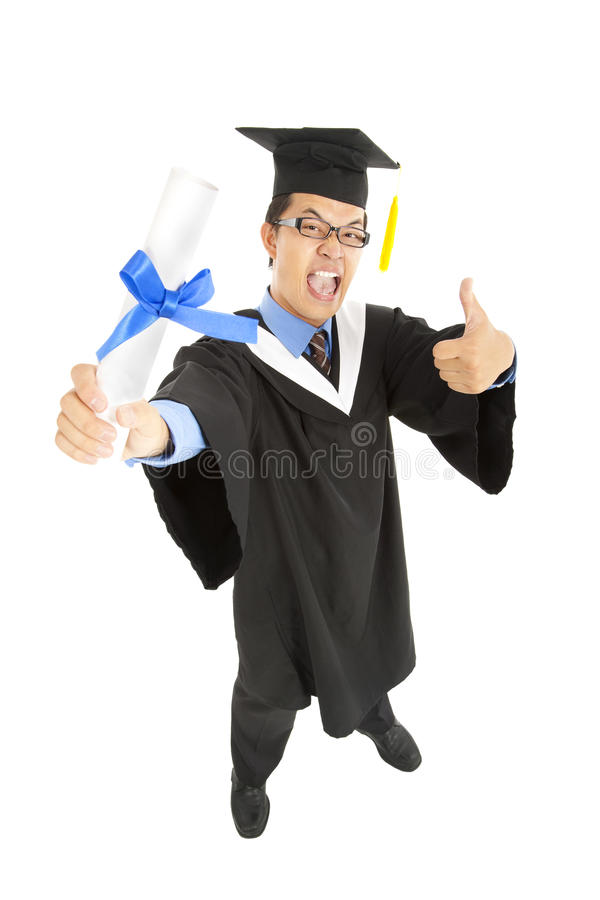 Download Excited graduating student stock photo. Image of graduation - 25163898