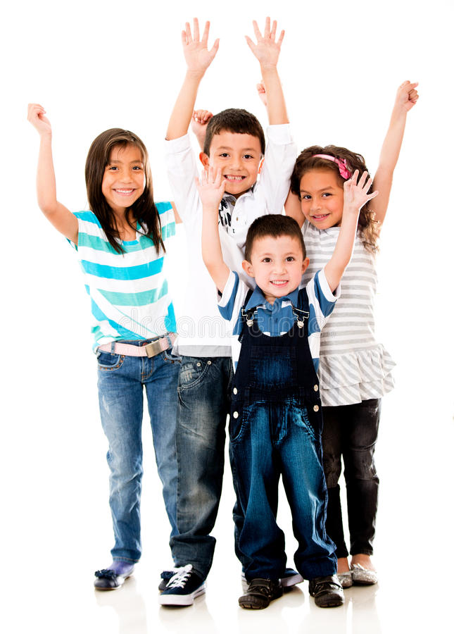 Download Excited group of kids stock photo. Image of excited, children - 27716536