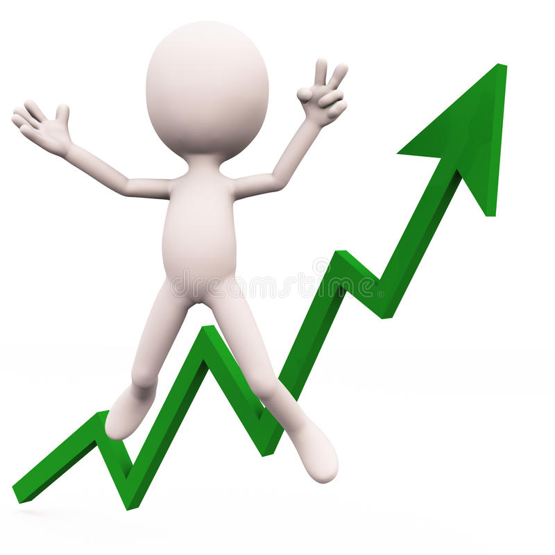 Download Excited with growth stock illustration. Image of white - 27846601