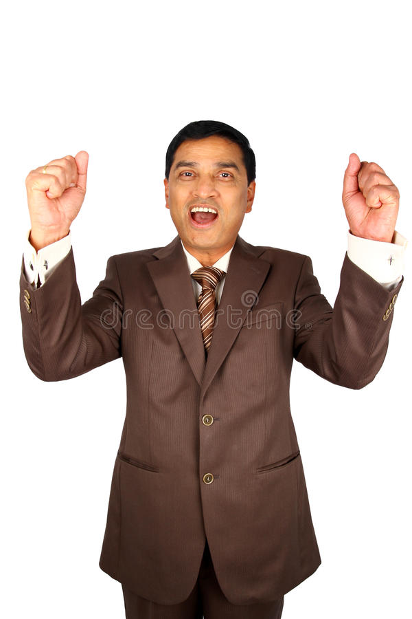 Download Excited Indian Businessman. Royalty Free Stock Image - Image: 20069436