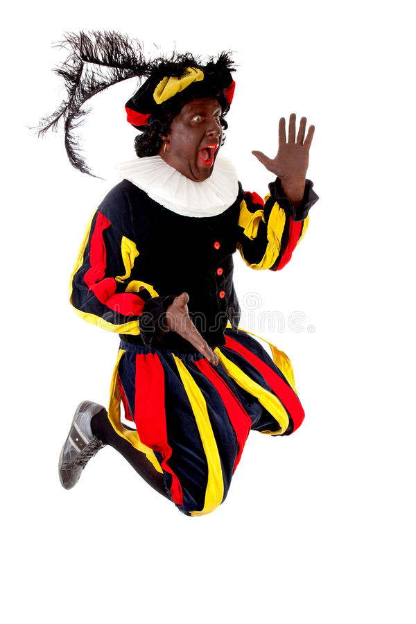 Excited jumping black Pete