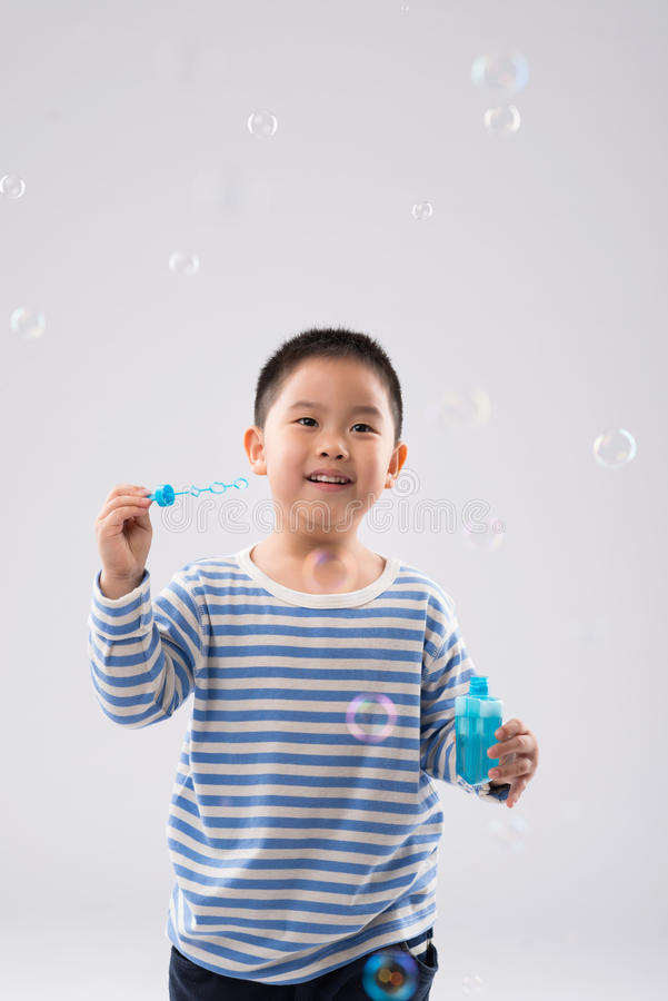 Excited kid stock photography