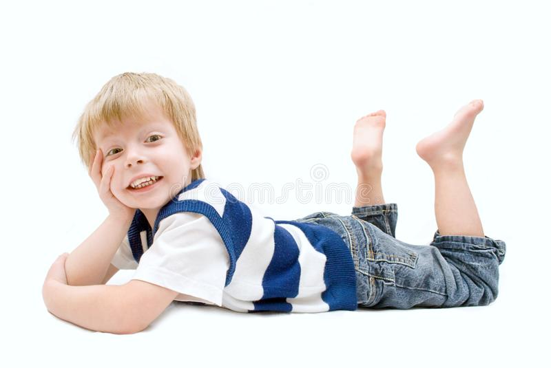 Download Excited Little Boy stock photo. Image of crazy, face - 13289724