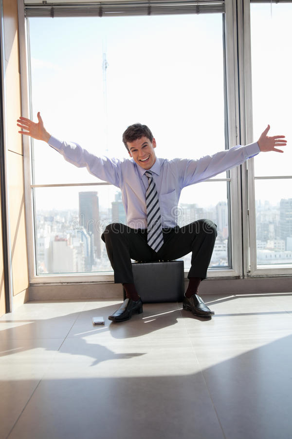 Download Excited Male Entrepreneur stock image. Image of profession - 22514641