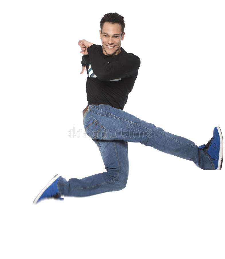 Download Excited Man Jumping In Air stock image. Image of people - 31981247
