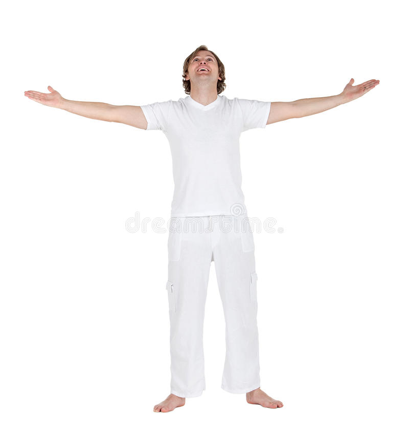 Download Excited man in white stock photo. Image of happy, people - 15026406