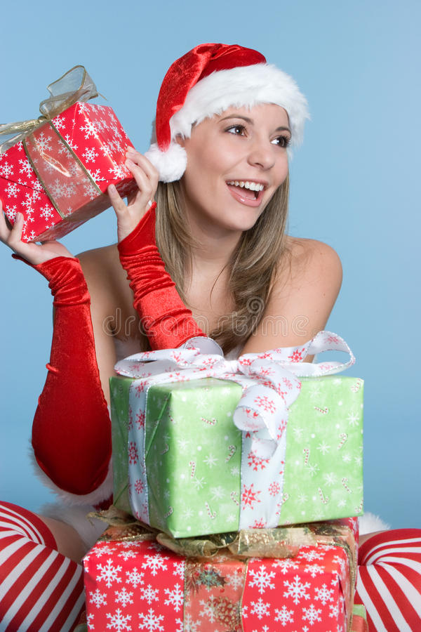 Download Excited Present Girl stock image. Image of beauty, present - 11738137