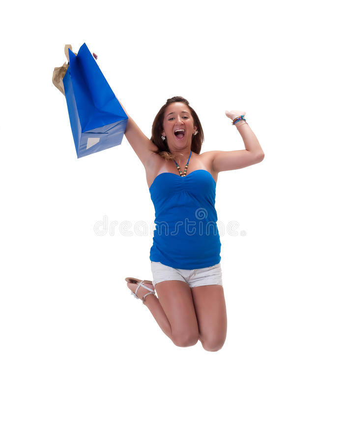 Excited Shopper stock photos