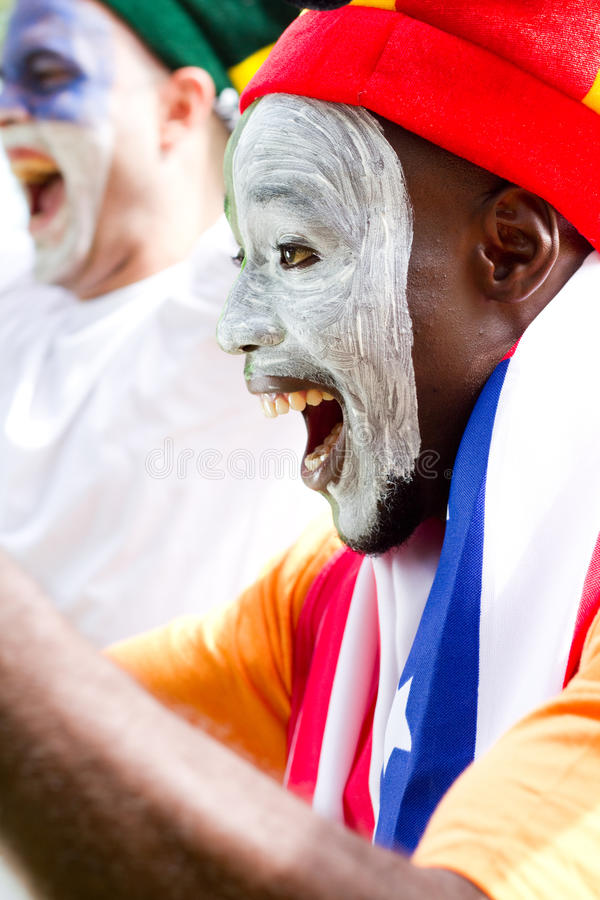 Excited Sports Fan Stock Photo