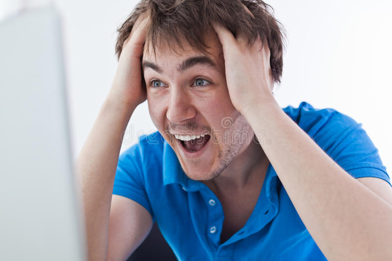 Excited Student. Royalty Free Stock Photos