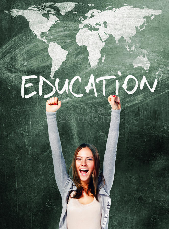 Download Excited student woman stock photo. Image of education - 33356176