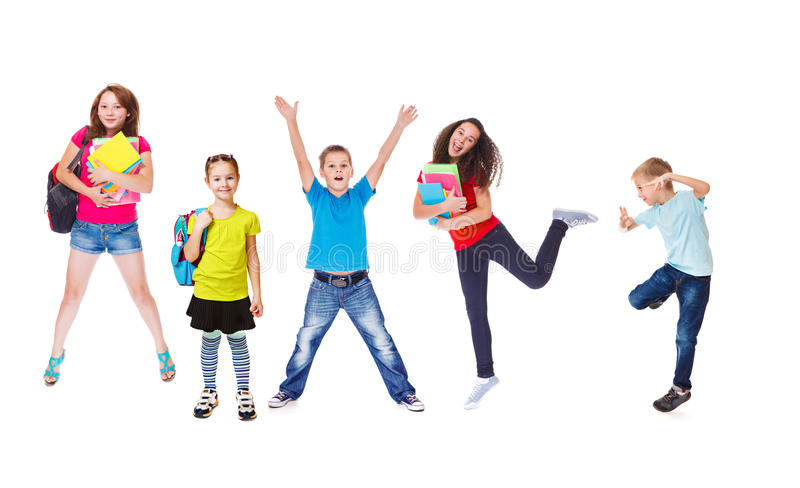 Excited students stock images