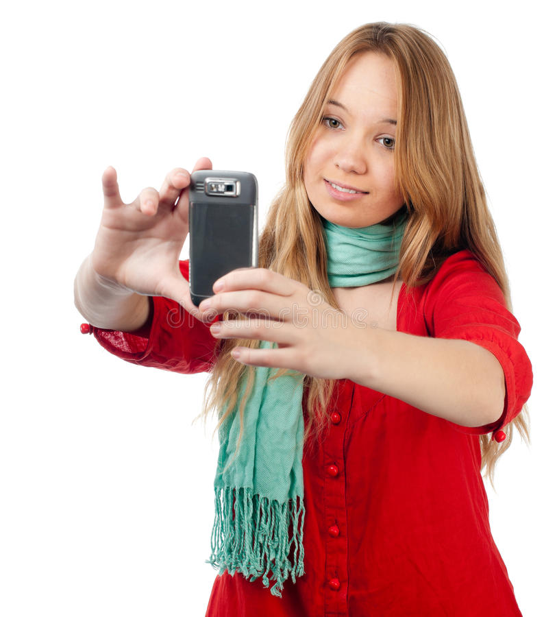 Download Excited teenager stock photo. Image of pretty, caucasian - 18032368