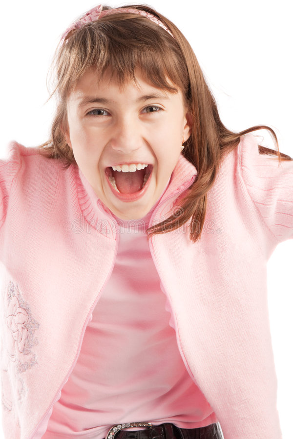 Excited teenager stock photo
