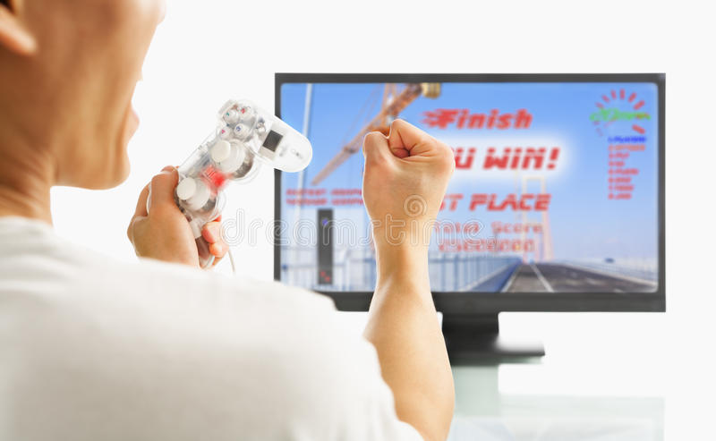 Download Excited After Winning The Game Stock Image - Image: 10940945