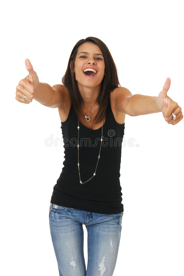 Excited Woman Stock Images