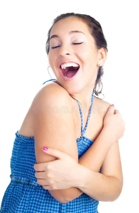 Excited woman stock photography