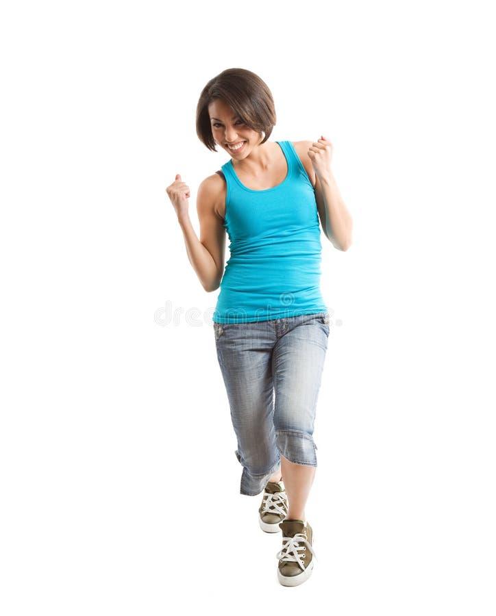 excited woman στοκ φωτογραφίες