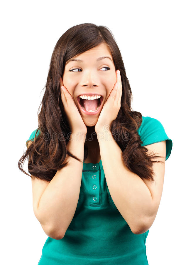 Download Excited woman stock photo. Image of caucasian, facial - 9752506