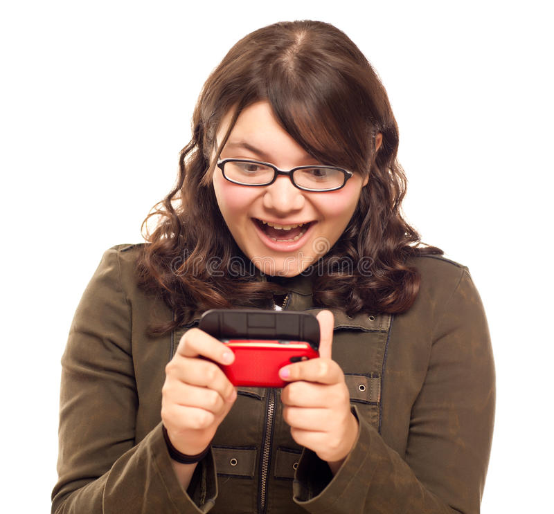 Download Excited Woman Texting stock image. Image of cell, happy - 17067603
