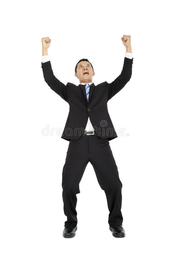 Excited young business man royalty free stock images