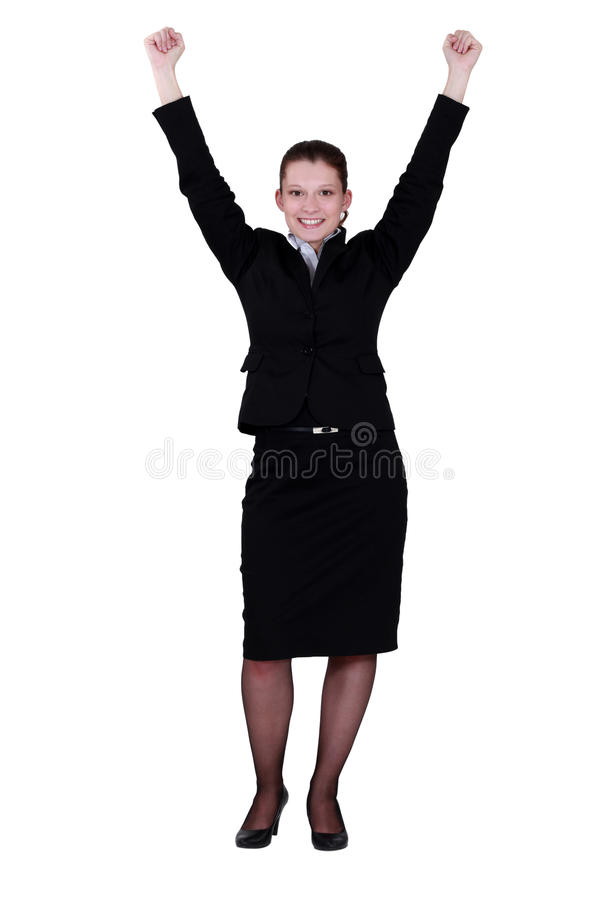 Download Excited Young Businesswoman Stock Image - Image: 30594881