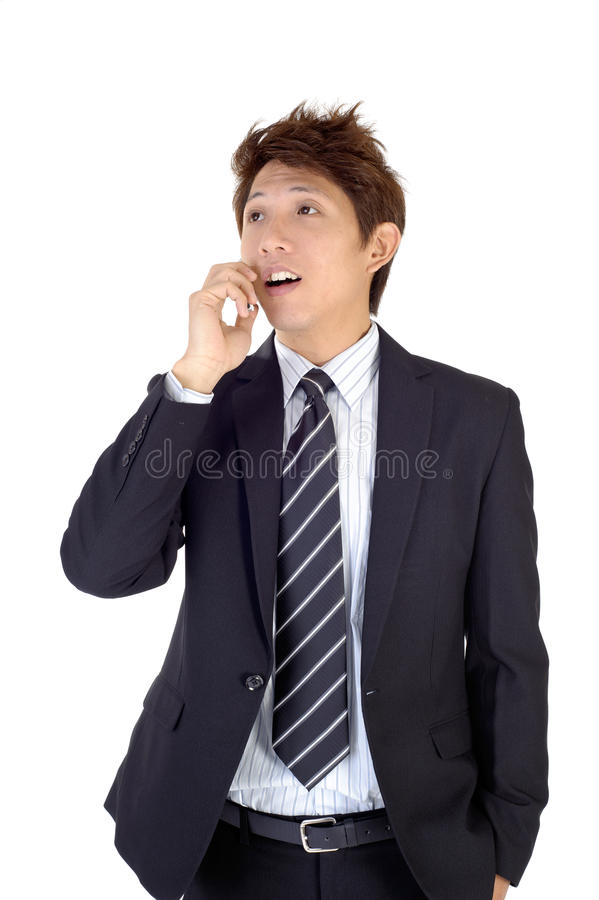 Excited young executive stock images