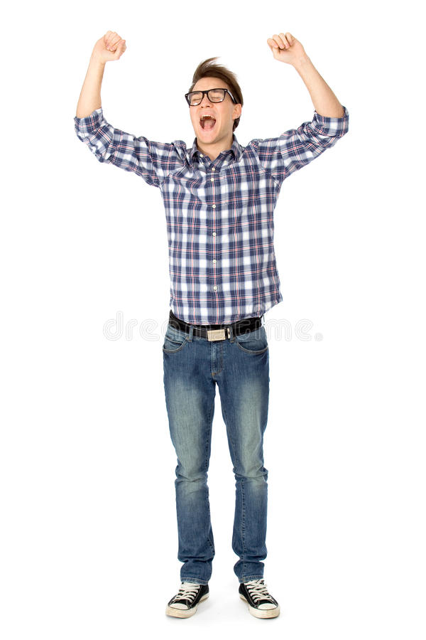 Excited Young Man Stock Images