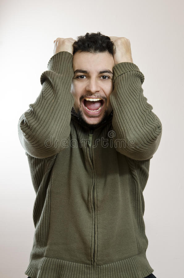 Download Excited young man stock photo. Image of rage, human, problem - 28124242