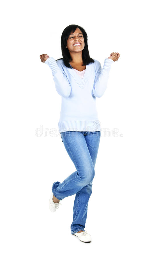 Excited young woman royalty free stock photos