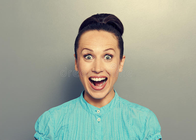 Download Excited young woman stock image. Image of female, girl - 33470971