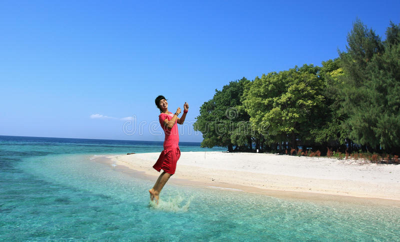 Download Exciting stock image. Image of horizontal, jump, glad - 9710667